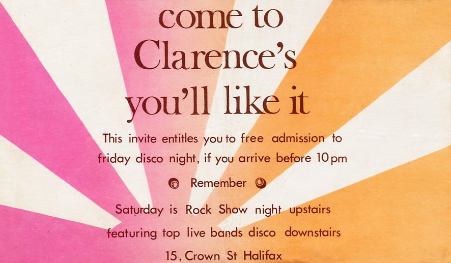 Clarence's flyer 1971