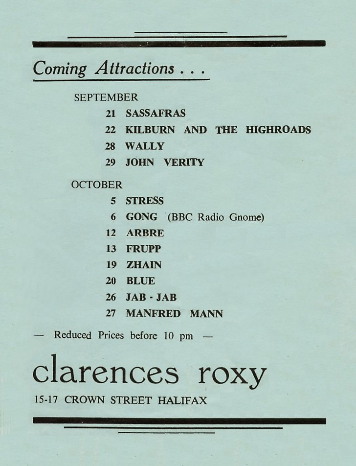 Clarence's flyer 1973